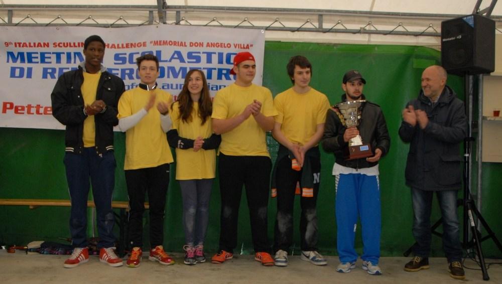 I vincitori, a destra Maurizio Ferrari, marito di Laura Bianchi